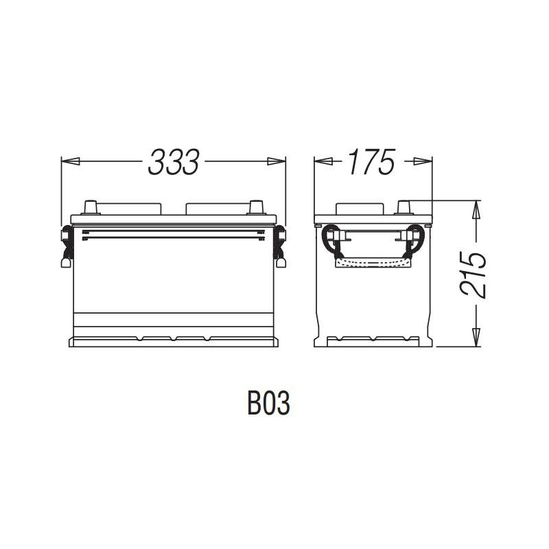 Batteria gr28 100ah 720en carraro e shop for Forum trattori carraro